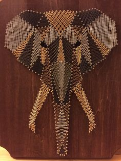 Geometric Elephant String Art by StringKits