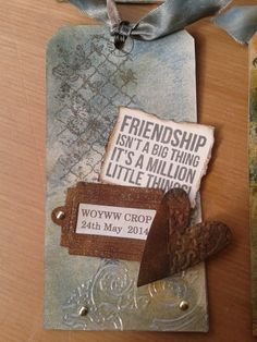 Keepsake tags for the WOYWW crop 2014. RAK'd with love. Made 35 - all the same, but different.