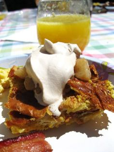 mother's day brunch: french toast bread pudding