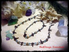 """17 1/2"""" Necklace 9 1/4"""" Anklet Natural Shell Natural Mother of Pearl Seed Bead Barrel Clasp"""