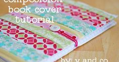 to make this cover you will need: *strips of varying widths with at least 16 inches in length. *2 rectangles of muslin cut out to 5 1/4 by...