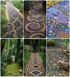 25 Incredible DIY Garden Pathway Ideas You Can Build Yourself To Beautify Your Backyard Diy Garden, Dream Garden, Garden Paths, Garden Art, Garden Mosaics, Garden Stones, Terrace Garden, Glass Garden, Summer Garden