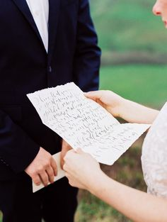 Keepsake Calligraphy Wedding Vows | Perry Vaile Photography | http://heyweddinglady.com/fine-art-adventure-loving-redwood-elopement/