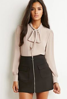 Bow High-Neck Blouse | Forever 21 | #thelatest