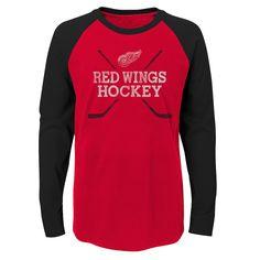 c7a2b08c1 Boys 4-18 Detroit Red Wings Hockey Sticks Tee
