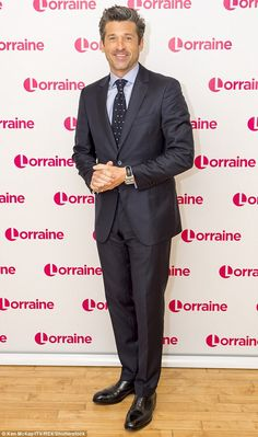 Dashing: Renee's co-star Patrick Dempsey, spent Monday morning chatting to…