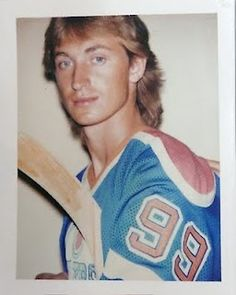 Andy Warhol polaroid of Wayne Gretzky