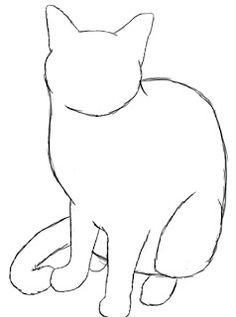 How to sketch a cat easy drawing of a cat sketch cat face Cat Sketch, Drawing Sketches, Sketching, Drawing Of A Cat, Cute Cat Drawing Easy, Contour Drawing, Animal Sketches, Animal Drawings, Drawings Of Cats