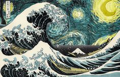 The Great Wave off Kanagawa  / Starry Night