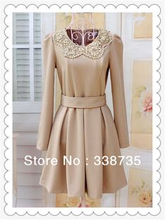 2014 Promotion Limited Shipping Spring Paillette Casual Dress Puff Sleeve Women's Slim Waist Fashion Long-sleeve Type One-piece $26.80