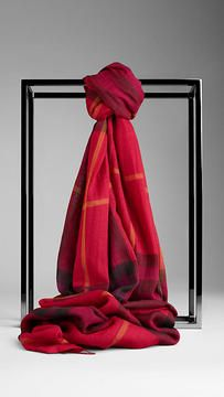 Check Wool Silk Scarf on #Burberry #Scarf #Sale #scarves