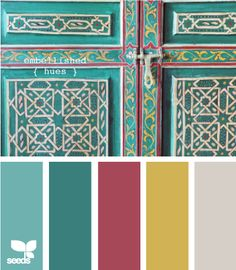 Color samples with teal.