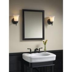 KOHLER, 20 in. x 26 in H. Recessed or Surface Mount Mirrored Medicine Cabinet in Oil Rubbed Bronze, K-2967-BR1 at The Home Depot - Mobile