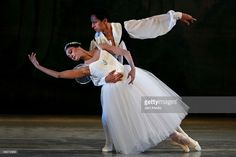 Ballet dancers Sandra Barcenas and Raul Fernandez of the national company of dance performs at the Esperanza Iris Teather on June 05, 2009 in Mexico City, Mexico.