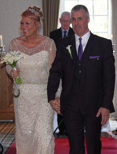 Cathie Hyslop wearing the Tesoro wedding gown designed exclusively by Eleganza Iconica #MadetoMeasure #EleganzaSposa #EleganzaIconica #Scotland #weddings #design #MadeinBritain #couture #bespoke #weddingdress #bridaldesigner #bridalboutique #Glasgow