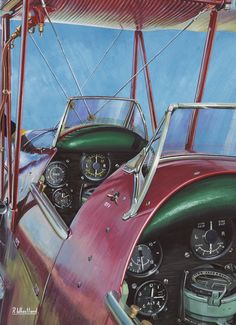 De Havilland Tiger Moth - come fly with me painting by Richard Wheatland