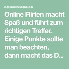 Online dating was beachten