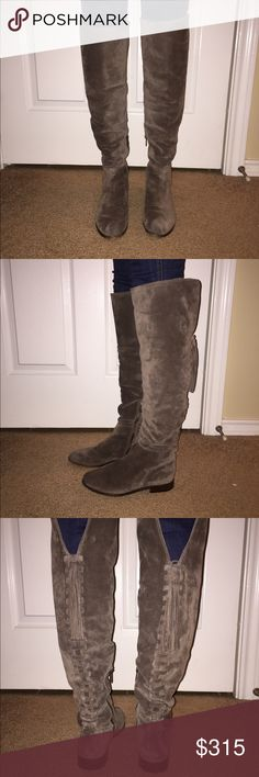 e979be0b3e8 Frye Elephant Tina Tassel Lace OTK Boots These boots have been worn TWICE  and have the