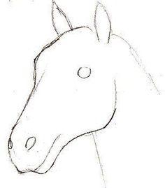 Aquí puedes ver por ti mismo cómo dibujar un caballo de manera realista. - Aquí puedes ver por ti mismo cómo dibujar un caballo de manera realista. Easy Horse Drawing, Unicorn Drawing, Horse Drawings, Realistic Drawings, Animal Drawings, Easy Drawings, Pencil Drawings, Deco Originale, Step By Step Drawing