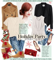 """""""HOLIDAY PARTIES"""" by cutandpaste on Polyvore"""