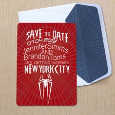 Amazing Spider-Man  invitations... they'll actually say Pete and MJ! :)