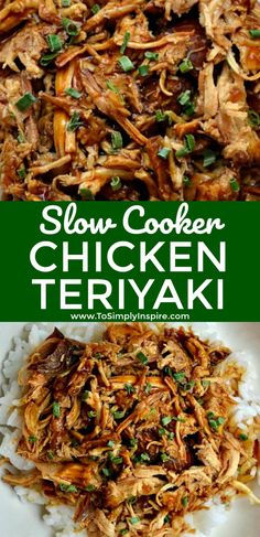 Slow Cooker Chicken Teriyaki is a hit in our house this week!  Serve over rice for another wonderful, healthy dinner choice.   | www.ToSimplyInspire.com #chickenteriyaki #slowcooker #easyrecipe #healthy