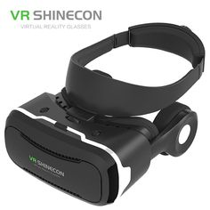 56640762ddaa Smartphone Games - VR Shinecon Virtual Reality Movie Glasses Helmet BOX  with Headphones for 4 inch Smartphone Game Controller