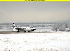 RAF Vickers Valiant on Snowy Airfield