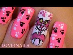 Decoracion Para Uñas ~ La Pantera Rosa - YouTube