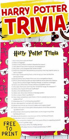 Harry Potter Trivia Questions