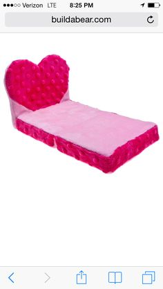 Build a Bear bed... I know 2 little gals who would love this :)