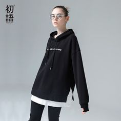 Toyouth Sweatshirts 2017 Spring New Women Character Embroidery Fake Two Pieces Long Sleeve Loose Pullovers Hoodie (32796687516)  SEE MORE  #SuperDeals