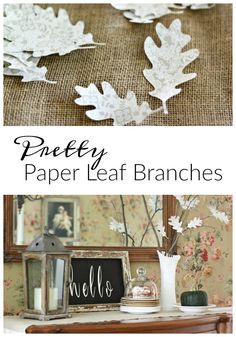 DIY Paper Leaf Branches | Love of Home