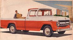 Ford truck... my dad had a Ford blue one of these... I loved riding to the dump in it!