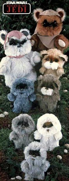 Ewoks plush toys
