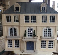 dolls house french chateau mansion | eBay House Xmas Decor, Classic House Design, French Chateau, Barbie House, Facade House, Miniature Houses, Little Houses, Dollhouse Furniture, House Rooms