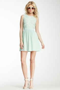 Romeo & Juliet Couture Lace & Mesh Bodice Dress by Non Specific on @HauteLook