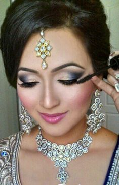Indian South Asian Wedding Bride Makeup and Hair