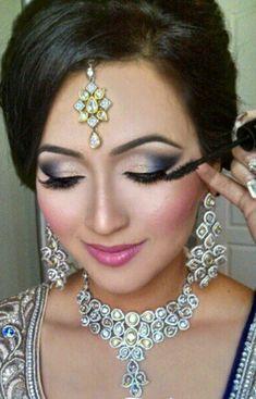 Indian South Asian Wedding Bride Makeup and Hair