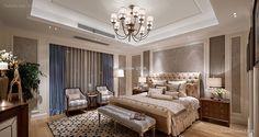 美式家居卧室装饰效果图