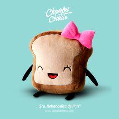 Mrs. Little Bread Slice Plush. 20x20cm. Get her in Etsy! This is mr. Little bread slice love <3