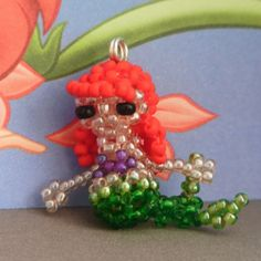 Miniature Seed Bead Doll Figure Ariel Disney by JennyLouCreations, $15.00