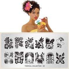 moyou Nail Art design Image Plates - Tropical Collection plate 03