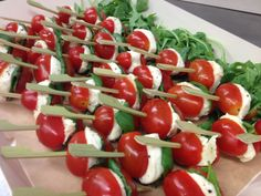 Caprese Skewers - perfect for summer cocktail parties