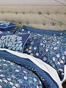 V&A Columbine blue bed linen range