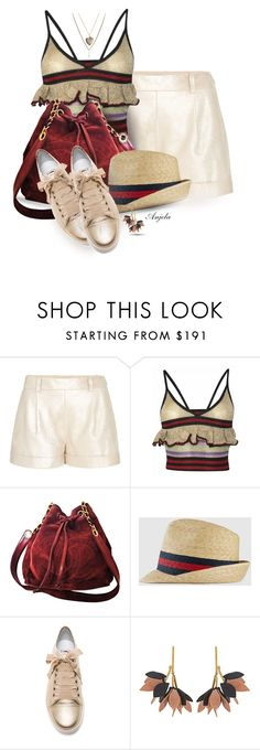 """""""Sneakers"""" by anjelakewell ❤ liked on Polyvore featuring Diane Von Furstenberg, Sibling, Chanel, Gucci, Lanvin, Marni and Aéropostale"""
