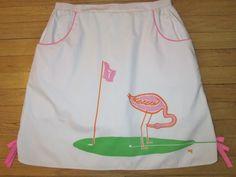 Vintage Vested Gentress Pro-Line Flamingo Golf Skirt Skort Vintage Size 18 XL #VestedGentress