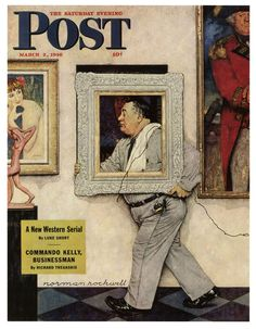 """Framed"" ... by Norman Rockwell - Saturday Evening Post Cover March 2, 1946"