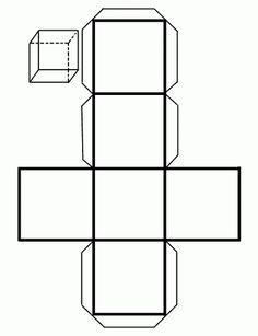 How to Make a Cube out of Cardboard. A cube is a polyhedron with six square faces. Thus, one cube is also a hexahedron as it has six faces. If you need to learn how to make a cardboard cube for a school project or want to create your ver. Cardboard Paper, Cardboard Crafts, Patron Cube, Cube Template, Box Templates, Paper Cube, Origami Cube, Printable Shapes, Geometry Activities