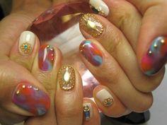 boho gold nails